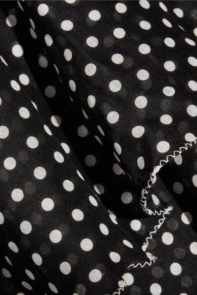 Lisa Marie Fernandez - Imaan Tiered Polka-dot Cotton-voile Mini Dress - Black