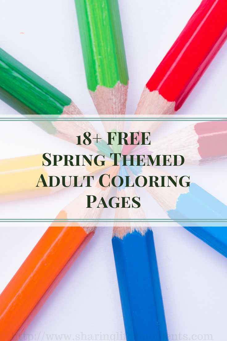 Coloring pages of spring things - 18 Free Spring Themed Adult Coloring Pages