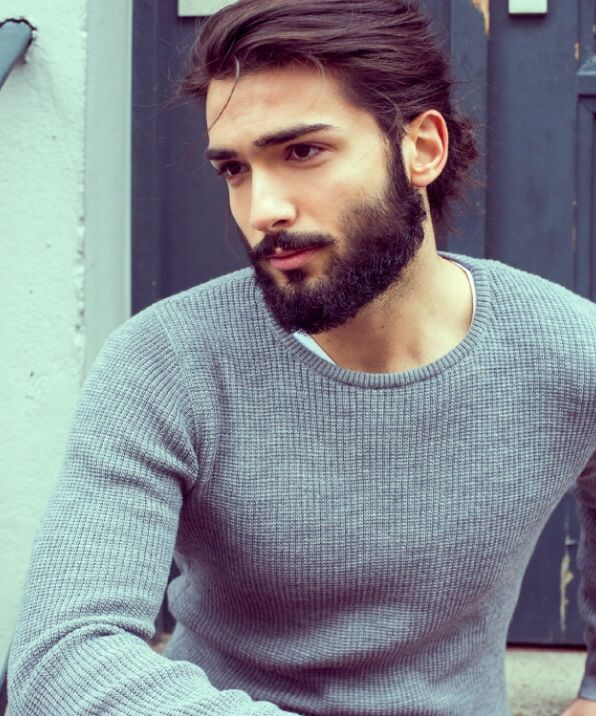 hair and beard style hair beard grey sweater style style 8260