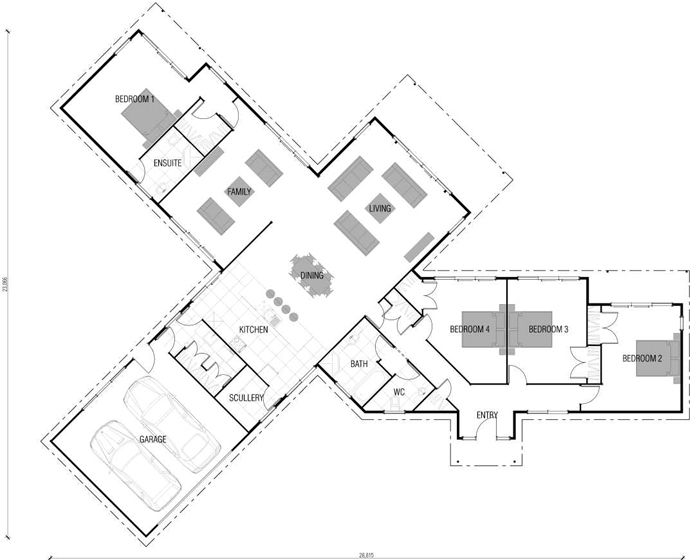 Home Building, Wooden Floor & Timber Frame House Plans New ZealandI quite like the garage/ laundry/kitchen/scullery line up