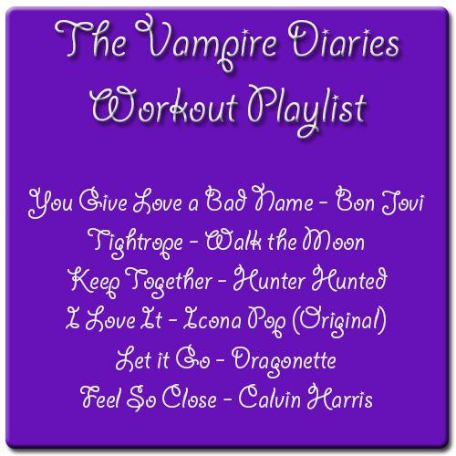 Running Reading & Randomosity: The Vampire Diaries Workout Playlist