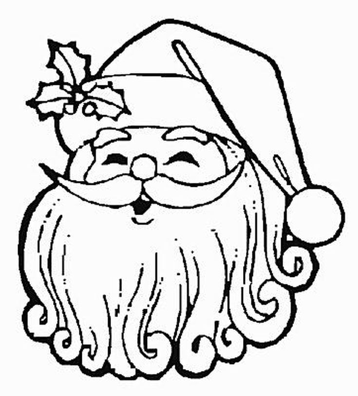 print free santa claus coloring pages this christmas - Xmas Coloring Pages