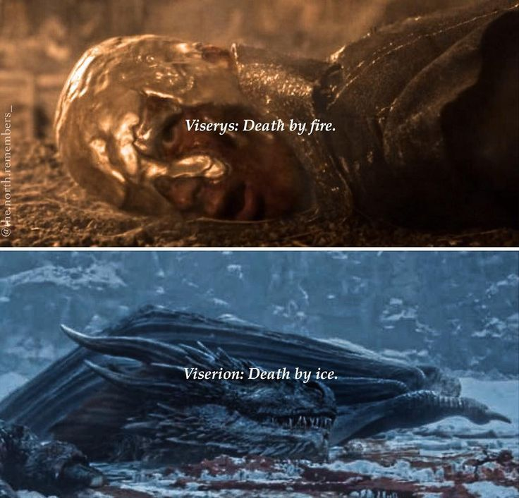 Viserys death by Fire and Viserion death by Ice ~ A song of Ice and Fire #GameofThrones #facts #daenerystargaryen #Dragon