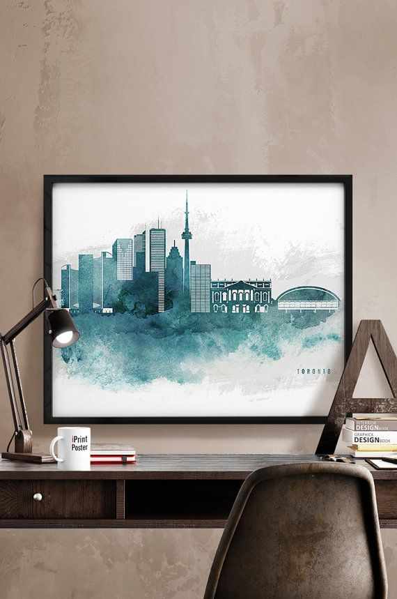 Toronto skyline Toronto art print Toronto by iPrintPoster on Etsy