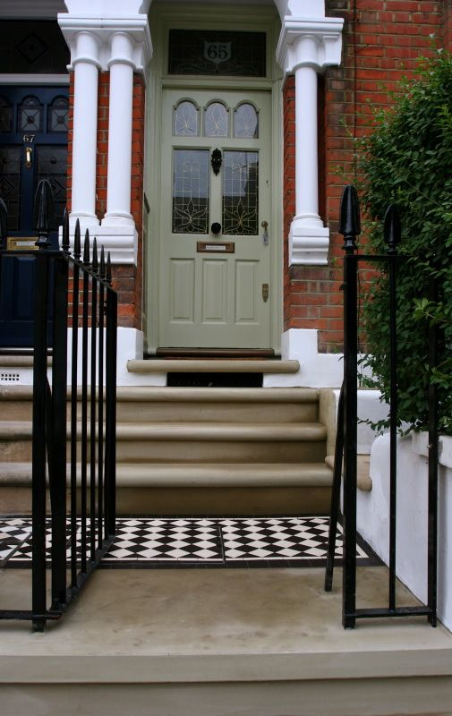 posh pathway and front of house