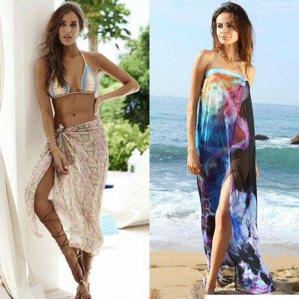 Модное парео для пляжа и сауны дизайн 2017 года