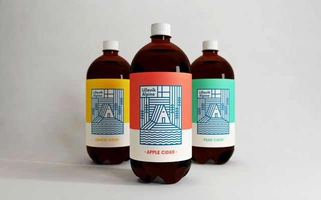 Good design makes me happy: Lillevik Alpine Cider Branding and Packaging