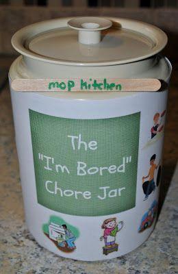 I'm bored chore jar