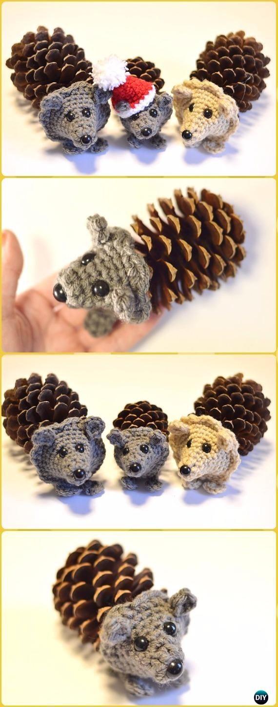 Amigurumi Pine Cone Crochet Hedgehog Free Pattern - Crochet Hedgehog Free Patterns