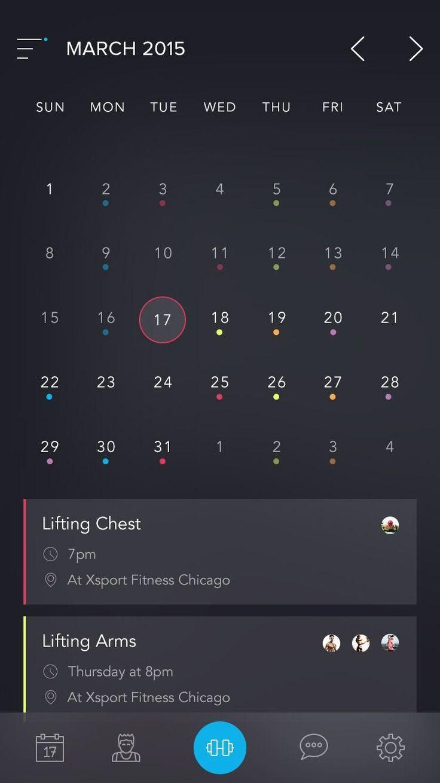 Beautiful calendar app by austinappy #ui #inspiration #interface #ios #design #iphone - Daily UI Design Inspiration & Patterns - UI Garage