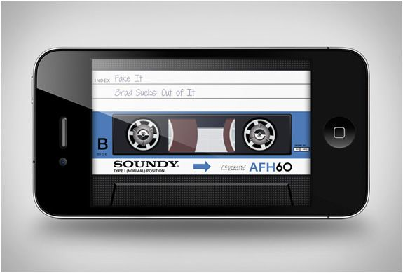 The best app disgin ever - AIR CASSETTE APP #app #iphone #mobile #ui #usability #design