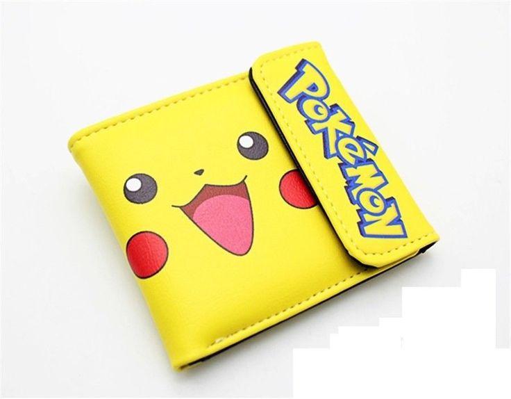 anime pikachu Pokemon wallet leather pu men women Bifold short Purse cosplay #Unbranded #wallet
