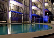 Merrima Court Holidays - Outdoor pool - Caloundra Apartment Accommodation