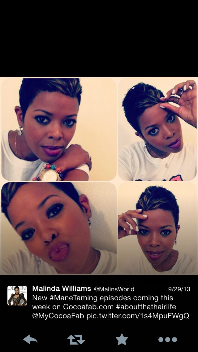 Malinda Williams short snip!  CUTE!