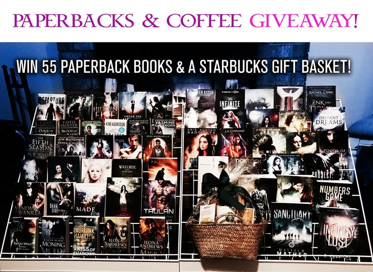Win 55 Paperback #Books and a #Starbucks Gift Basket in our BOOKS & #COFFEE #Giveaway!