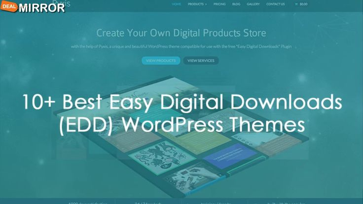 Here are the 10+ Best Easy Digital Downloads (EDD) WordPress Themes 2016 (Free and Premium). These themes will allow you to offer free or paid downloads via your website, create an online marketplace selling digital good, sell eBooks & PDFs online, sell graphics, sell MP3s, music files, video files and just about any other type of downloadable purchases.