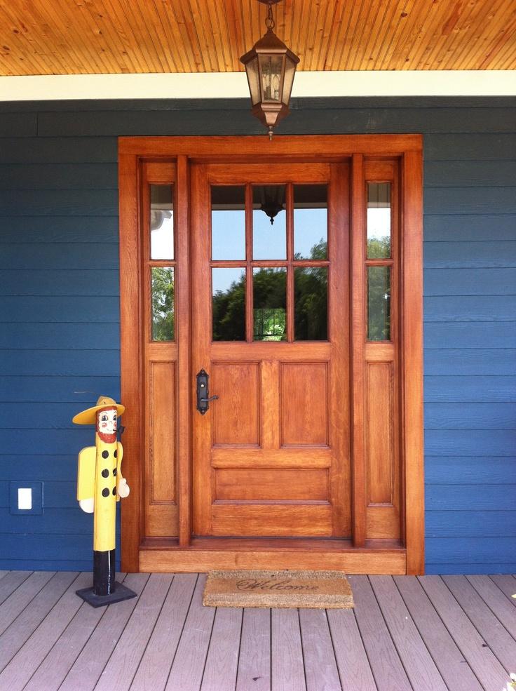 A restored door installed & 10 best Front door restoration images on Pinterest   Front doors ... Pezcame.Com