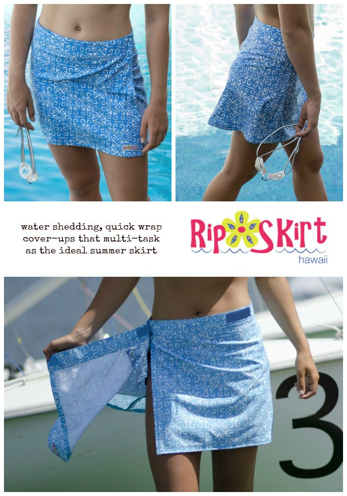 Back by popular demand! Blue Ulupua print in our Original Length RipSkirt.