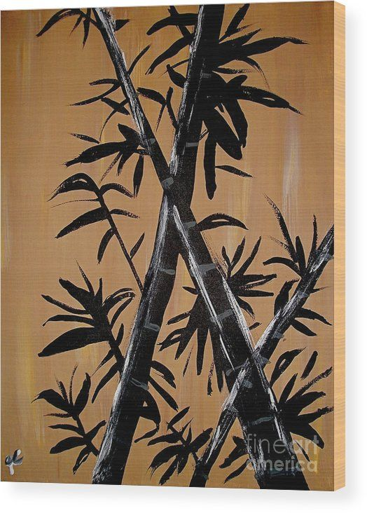 Bamboo Brocade Wood Canvas #WallArt by Jilian Cramb #homedecor