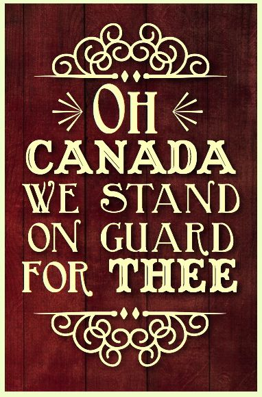Canada Day Printables - gorgeous subway art poster of line from national anthem  #canadadayprintable