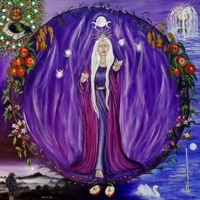 Lady of Avalon Print by Elluna Art at Goddess Temple Gifts