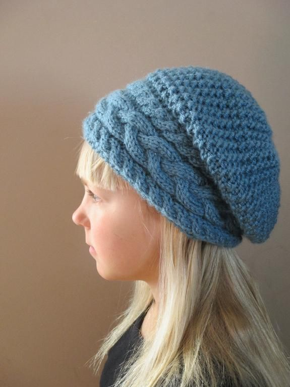 Slouch Hat Knitting Pattern Circular Needles : Stillness of Winter Slouch Hat Accessories, Knitting and Hats