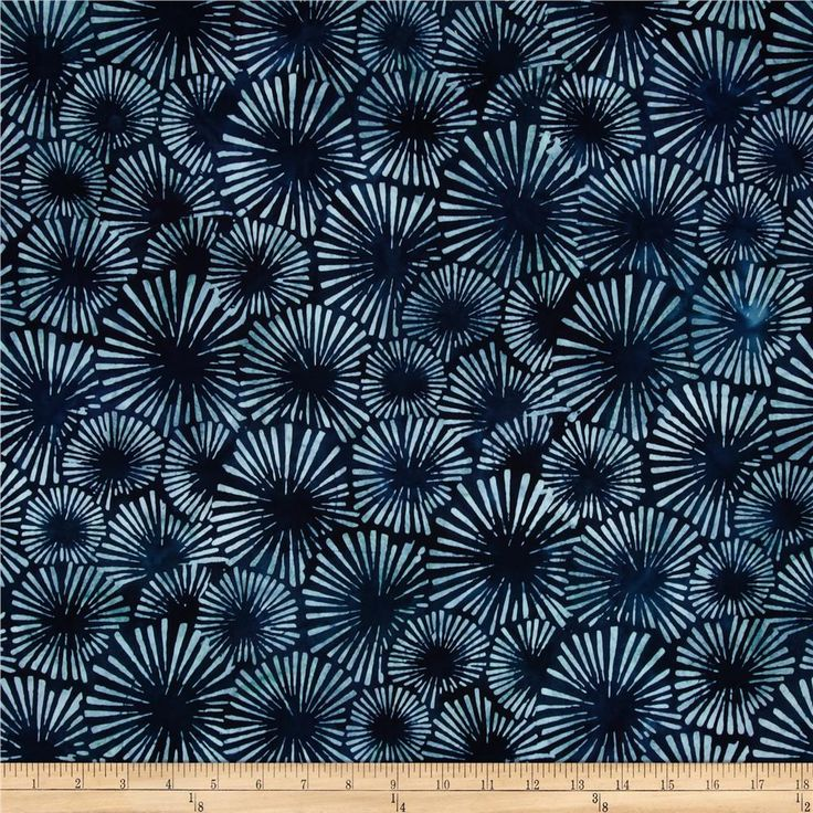 Artisan Batiks Color Source Starburst Indigo from @fabricdotcom  Designed by Lunn Studios for Robert Kaufman Fabrics, this Indonesian batik is perfect for quilting, apparel and home decor accents. Colors include shades of blue.