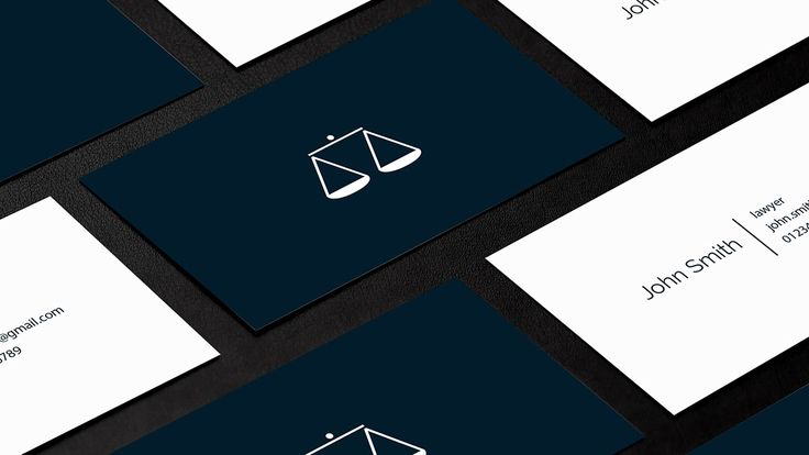 lawyers business card on Behance