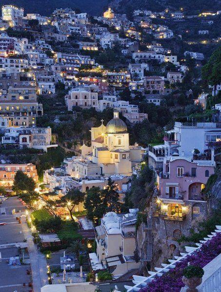 Positano at Dusk ~ Amalfi Coast, Italy