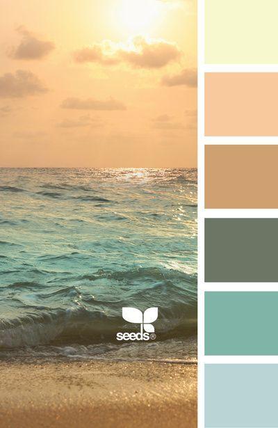 Palette de couleurs actuellement dans les pièces communes