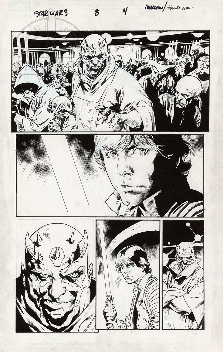 Fanfare :: For Sale Artwork :: Star Wars by artist Stuart Immonen