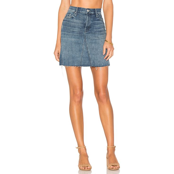 "- ""I've always had a really hard time finding a good pair of jeans for my body type. Denim skirts work as a great alternative, and this mini from Mother can be worn literally anywhere.""—Andrea Navarro, Associate Beauty EditorMother The Four Points Mini Skirt in Gypsy, $208"