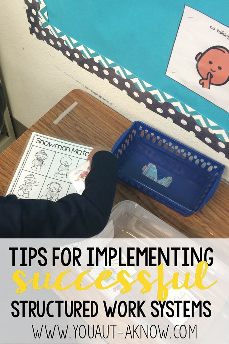 Do you use Independent Work Stations in your special education classroom? Check out these tips for implementing successful structured work in your classroom for students with Autism.