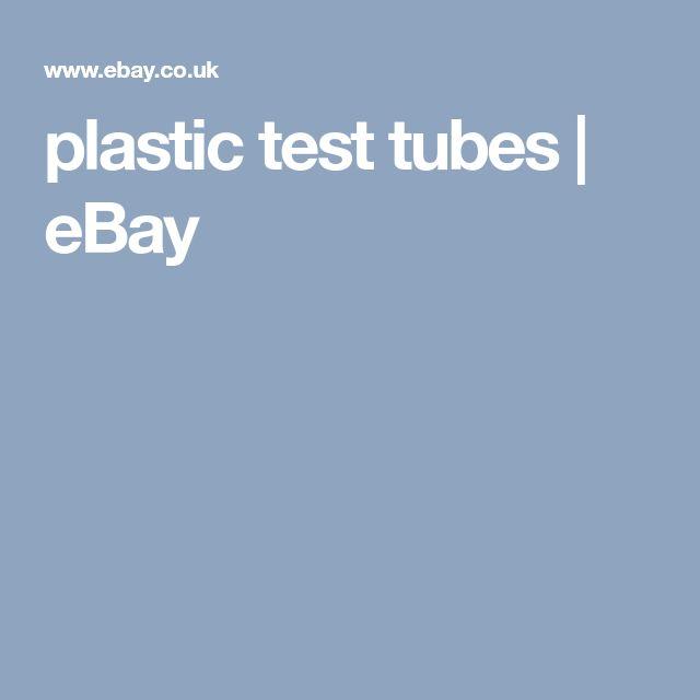 plastic test tubes | eBay