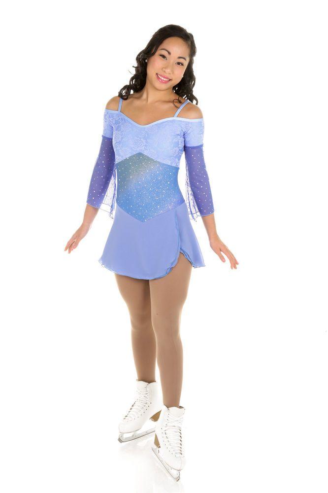 New Elite Xpression Figure Skating Dress D245-LAV Made on Order | eBay