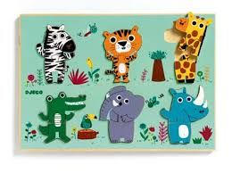 Djeco dřevěné puzzle pro nejmenší Jungle | Od 1 roku | Space4kids