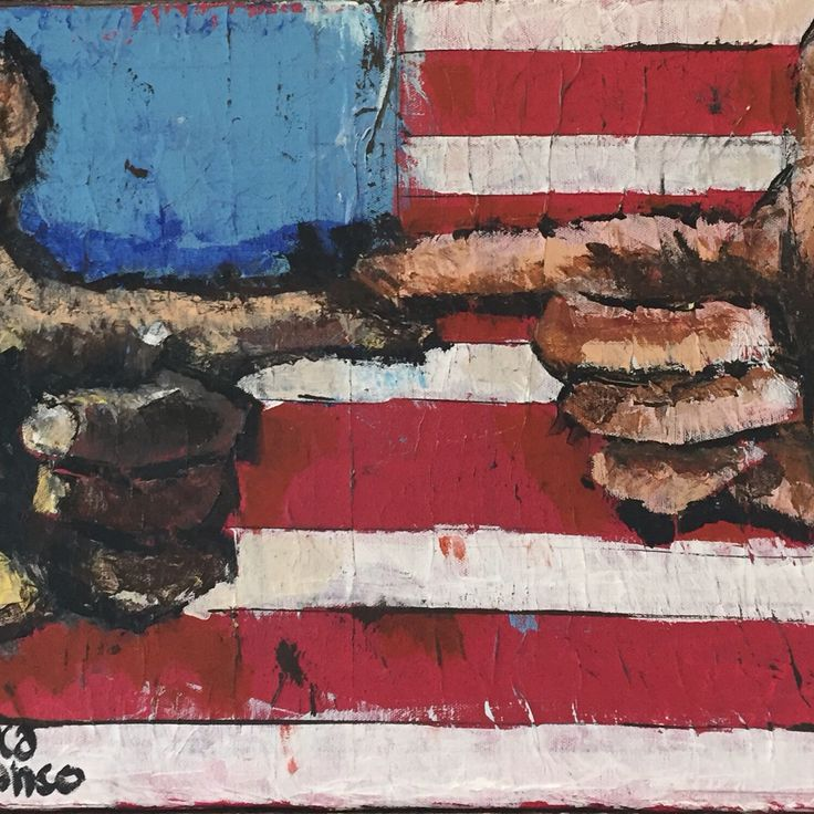 My hand is your hand - acrylics on paper on canvas cm. 60x40.