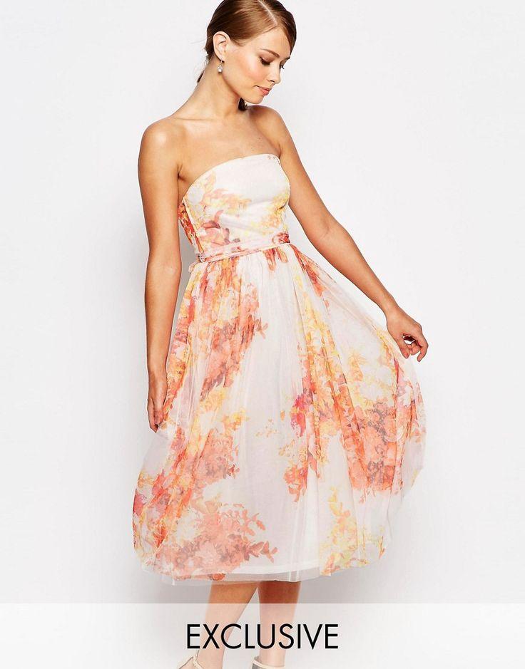 True+Violet+Tulle+Prom+Midi+Dress+In+Autumn+Floral+Print