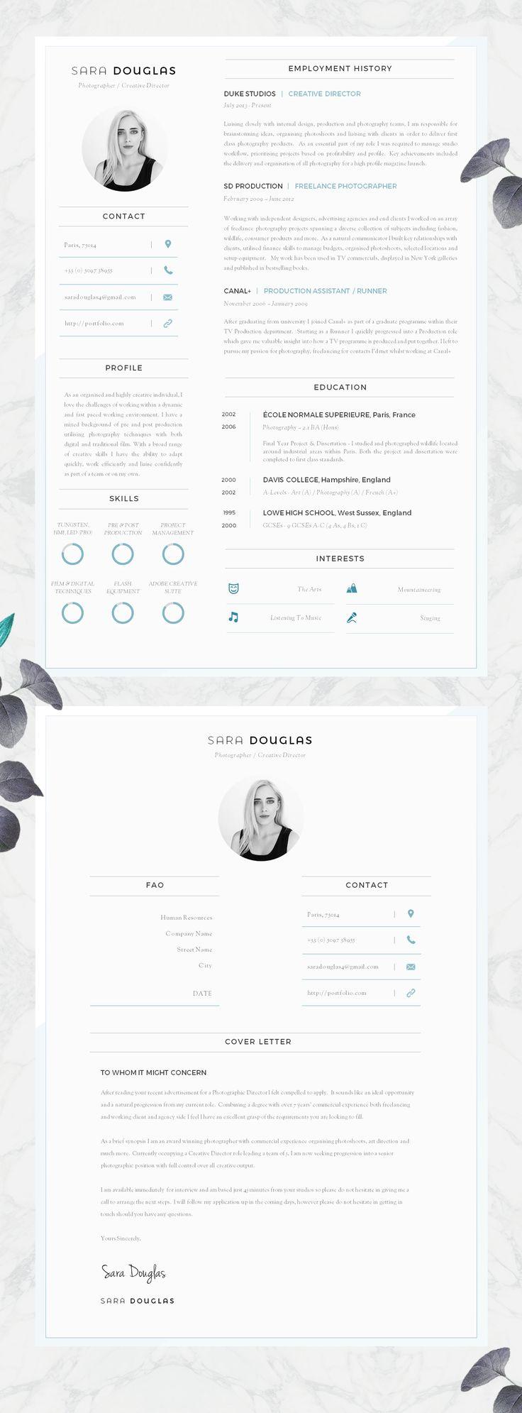 Modern CV Design | Resume Design - Must Do Career Project #Etsy #CV #Resume