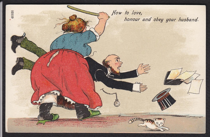 Comic-Wife Beating Husband-Marriage-Love-Honour-Obey