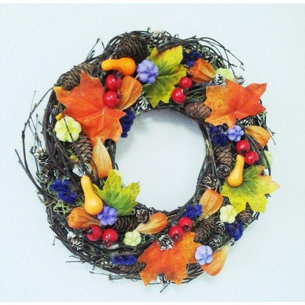 jesenný veniec farebný 35 cm