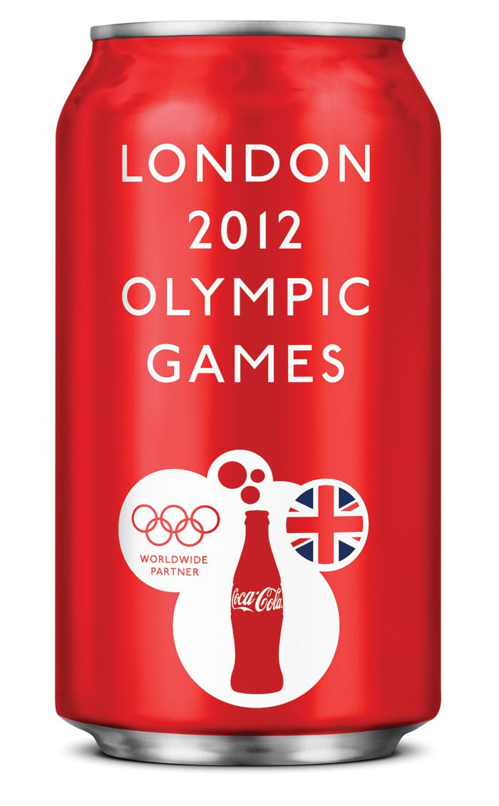 Typo-cally London...Coke's special edition packaging for the US Olympic (London 2012) Team