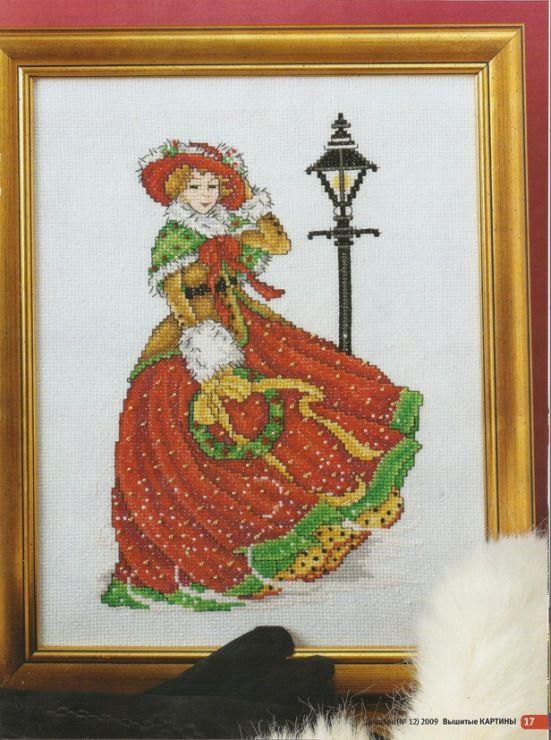 96 best navidad en punto de cruz images on pinterest ForCuadros De Navidad