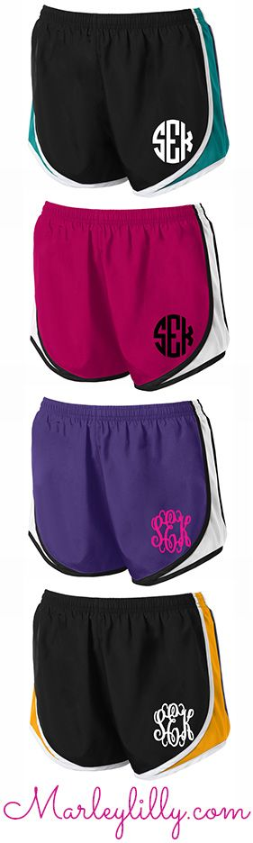 Set up your gym routine with a pair of Monogrammed Running Shorts from…