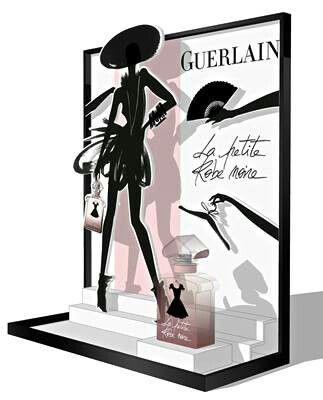 Version PLV La Petite Robe Noire de Guerlain...