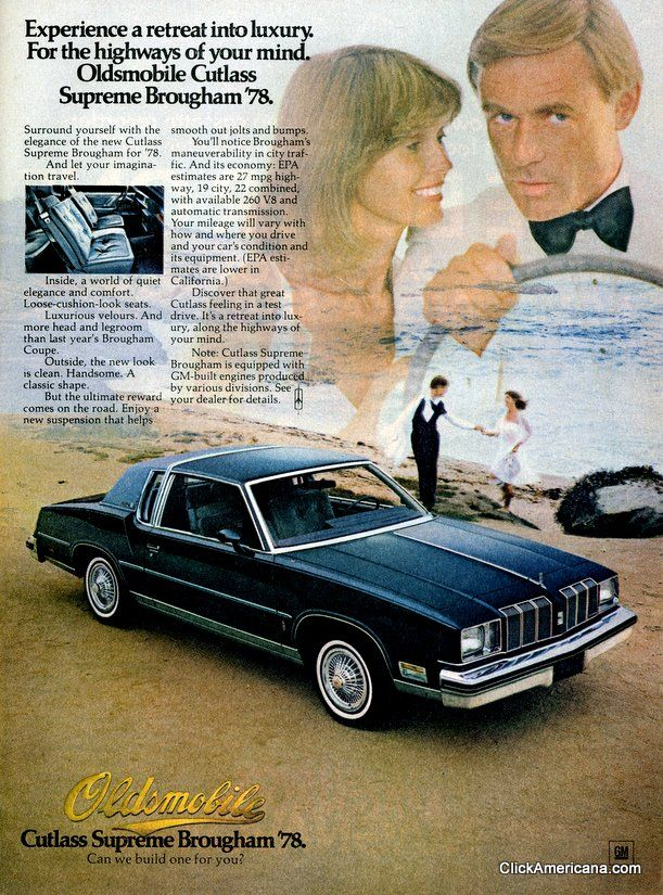 Vintage Oldsmobile ads: Can we build one for you? (1970s)
