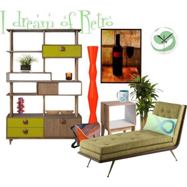 """I dream of retro living room"" by mark-malinowski on Polyvore"