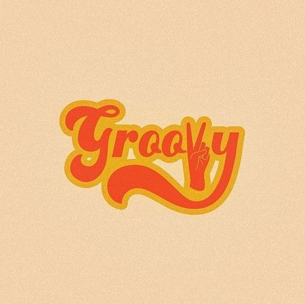 Groovy Word Art Words Wall Collage
