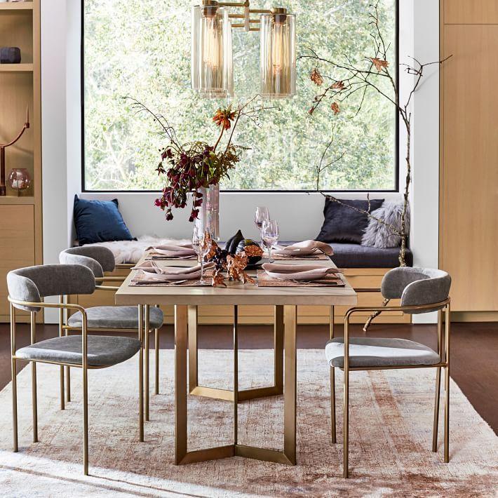 Interior Define Audrey Fabric Dining Chair 400 Vs West Elm Lenox