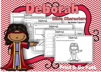 Old Testament Book 1, Lesson 40 Deborah - Print  Go Packet 3.00--they have packets for other characters also